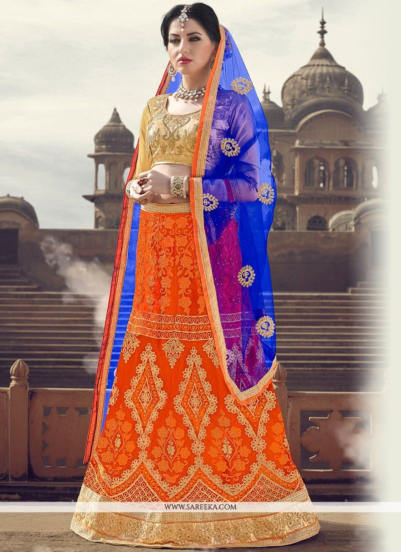 Satin Zari Work Lehenga Choli