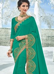 Sea Green Art Silk Traditional Designer Saree