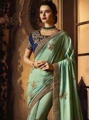 Sea Green Art Silk Traditional Designer Saree