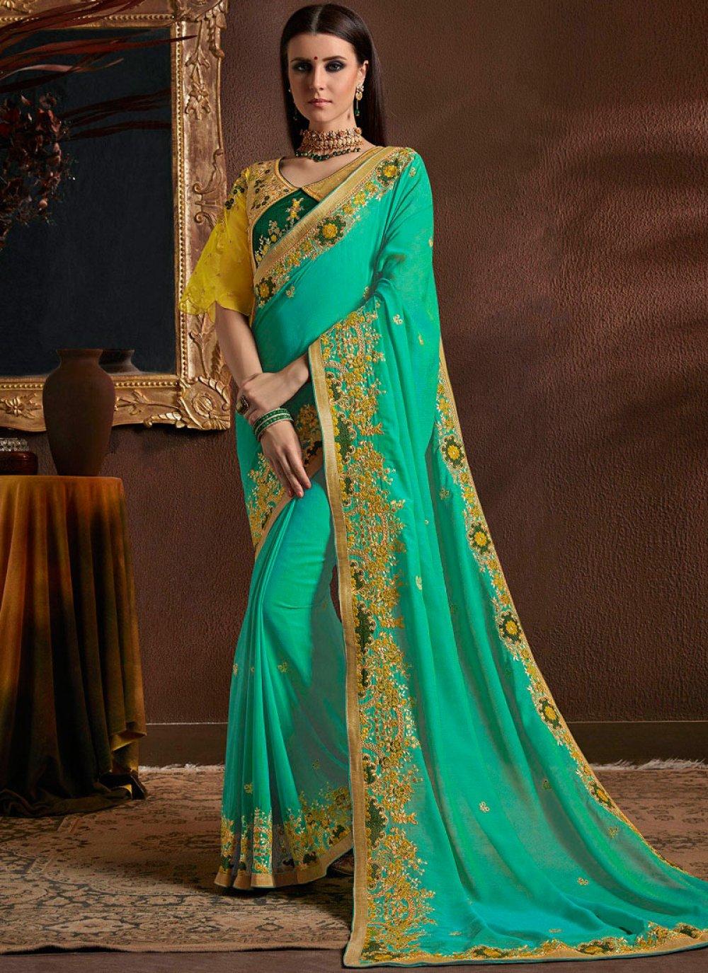 Sea Green Classic Designer Saree