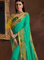 Sea Green Classic Designer Saree