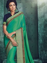 Sea Green Festival Designer Traditional Saree