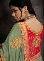 Sea Green Festival Designer Traditional Saree