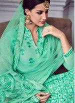 Sea Green Party Anarkali Salwar Suit