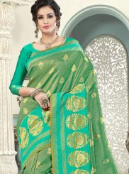 Sea Green Weaving Festival Designer Traditional Saree