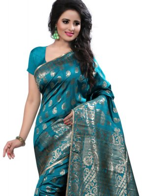 Sea Green Weaving Work Art Silk Designer Traditional Saree