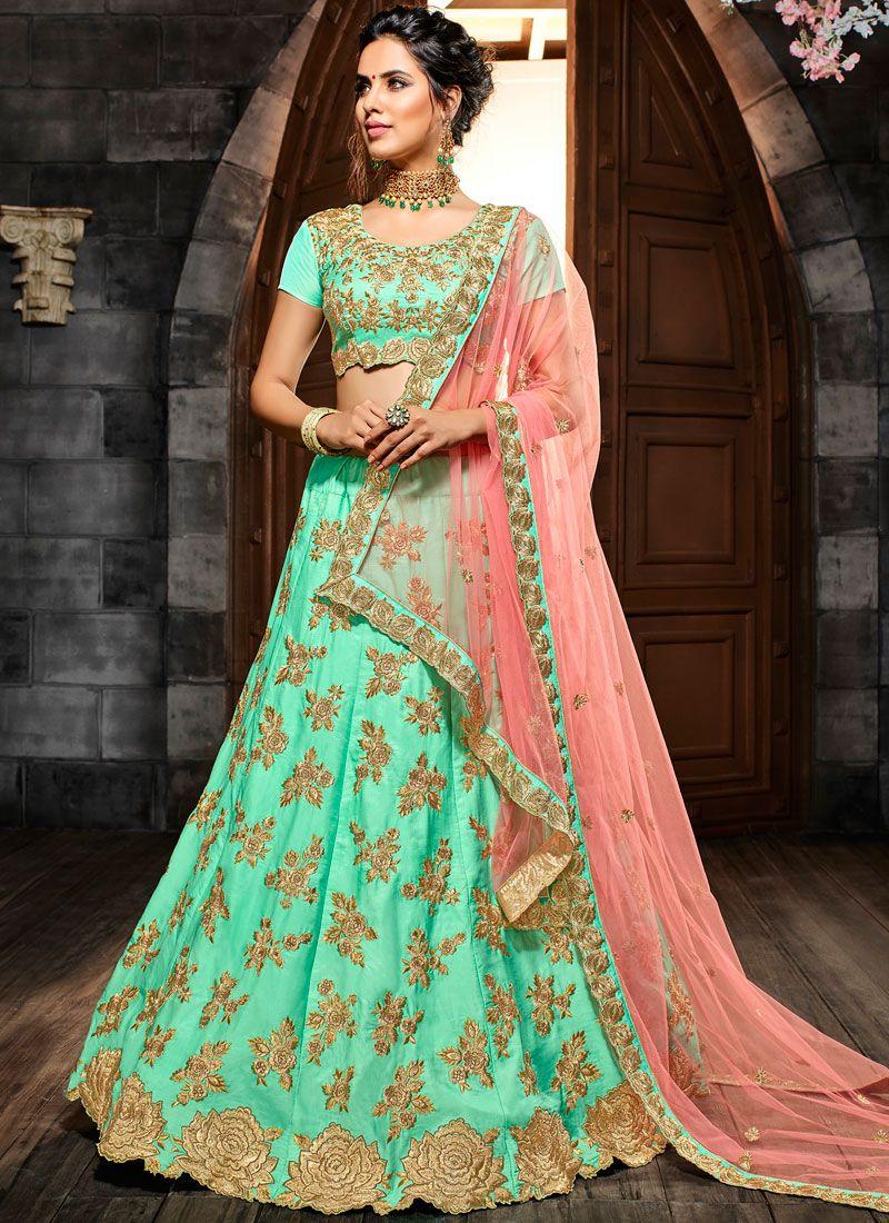 308e004f4d5b Buy Sea Green Wedding Lehenga Choli Online -