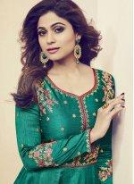 Shamita Shetty Art Silk Embroidered Work Floor Length Anarkali Suit