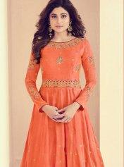 56fb8253cf8b Shamita Shetty Art Silk Embroidered Work Floor Length Anarkali Suit