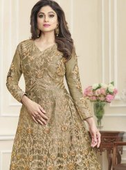 Shamita Shetty Embroidered Floor Length Anarkali Suit