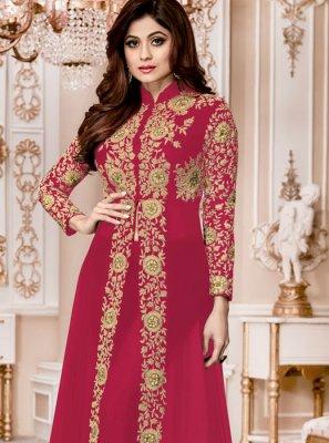 Shamita Shetty Faux Georgette Pant Style Suit