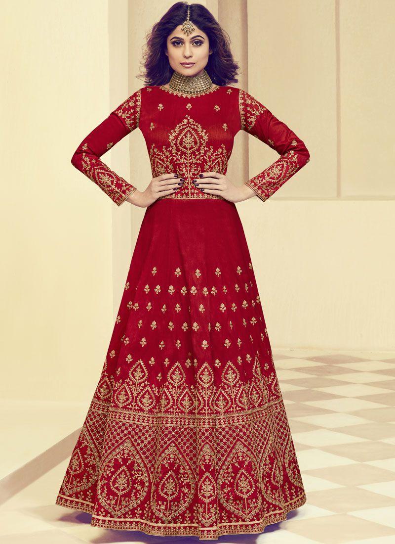 ea15df0c82 Shop Online Shamita Shetty Resham Floor Length Anarkali Suit : 88338 -