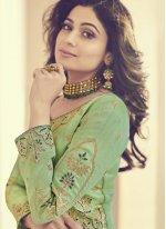 Shamita Shetty Zari Floor Length Anarkali Suit