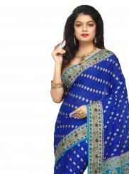 Silk Blue Classic Designer Saree