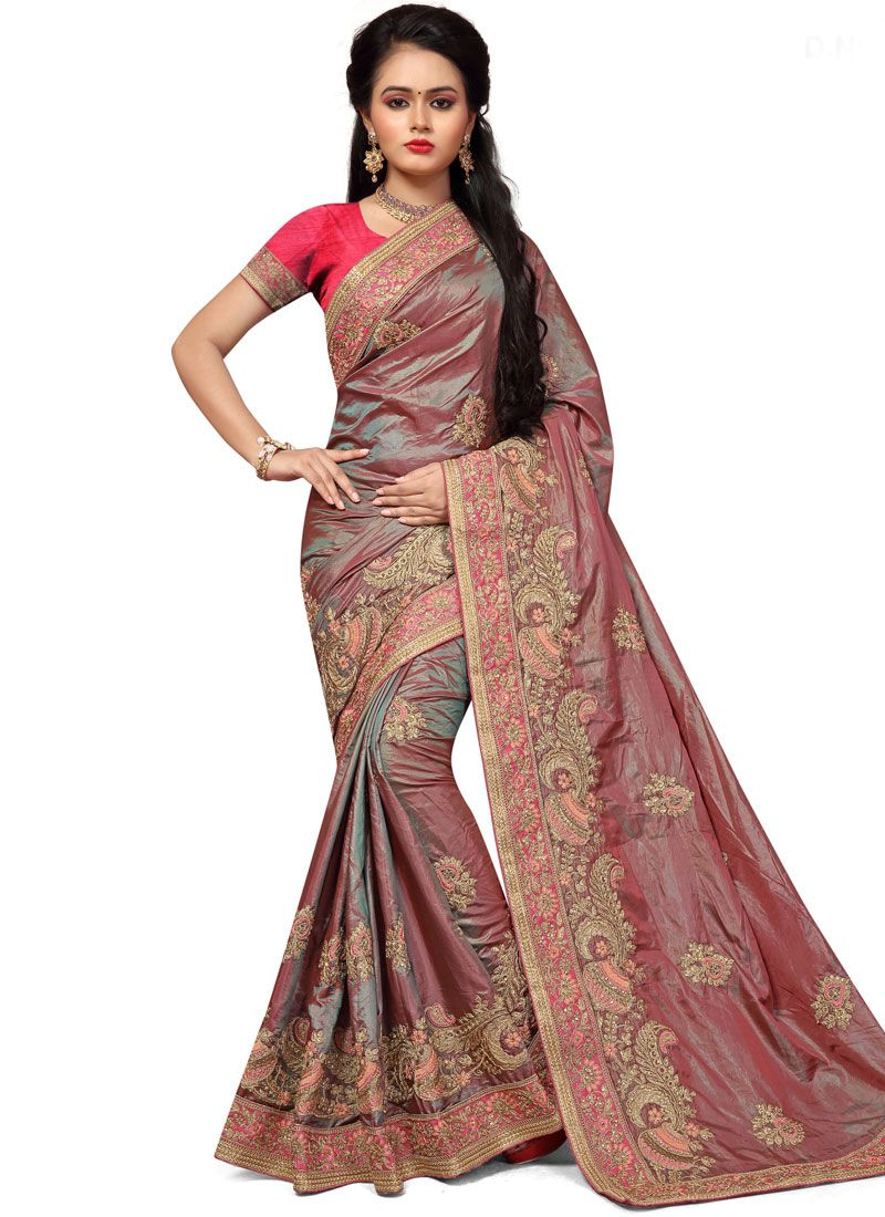 Silk Brown Traditional  Saree