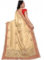 Silk Cream Stone Work Silk Saree