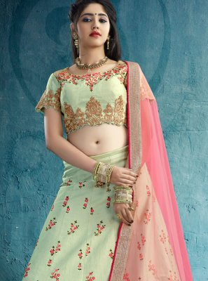 Silk Embroidered Work Designer Lehenga Choli