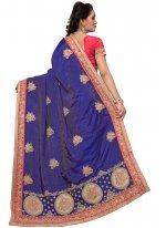Silk Embroidered Work Silk Saree