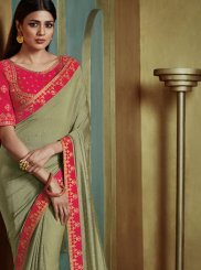 Silk Green Trendy Saree