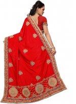 Silk Red Stone Work Classic Saree