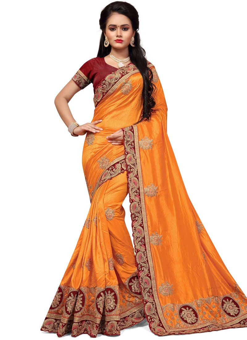 Silk Stone Work Classic Saree