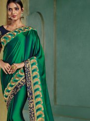 Silk Trendy Saree in Green