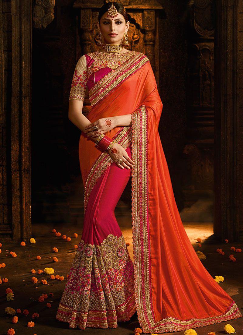 eca7cd712 Silk Wedding Classic Designer Saree buy online -