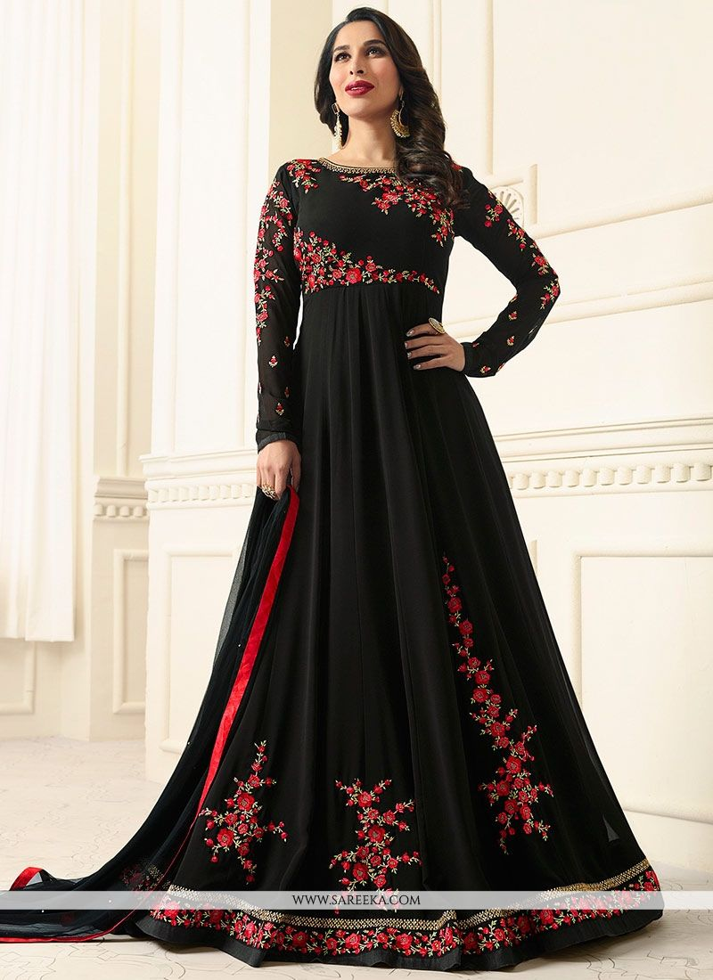 Sophie Chaudhary Embroidered Work Floor Length Anarkali Suit