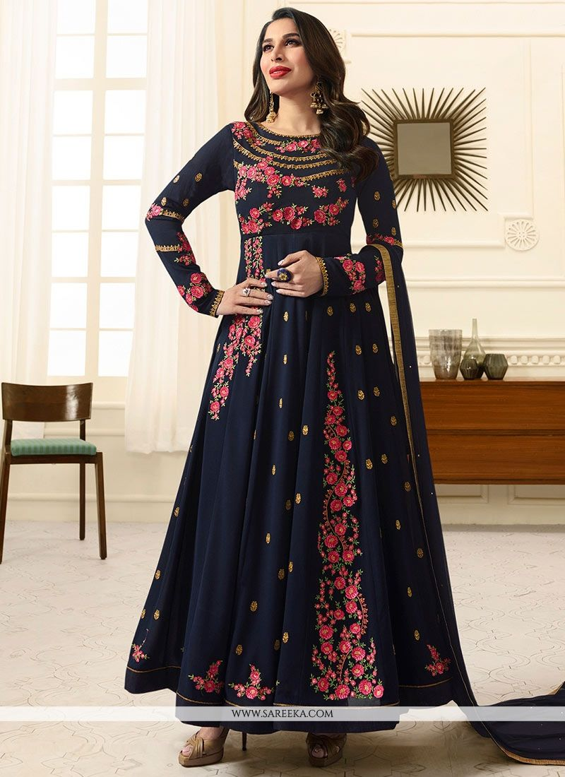 Sophie Chaudhary Faux Georgette Embroidered Work Floor Length Anarkali Suit