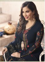 Sophie Chaudhary Faux Georgette Resham Work Churidar Designer Suit