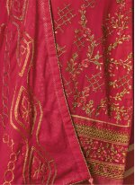 Sophie Chaudhary Orange and Pink Embroidered Work Churidar Designer Suit