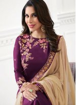 Sophie Chaudhary Purple Designer Palazzo Suit