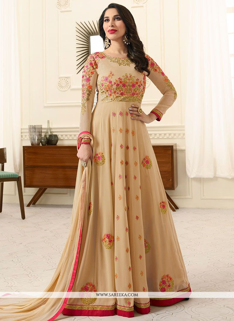 Sophie Chaudhary Resham Work Floor Length Anarkali Suit
