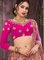 Stone Work Pink Designer Lehenga Choli