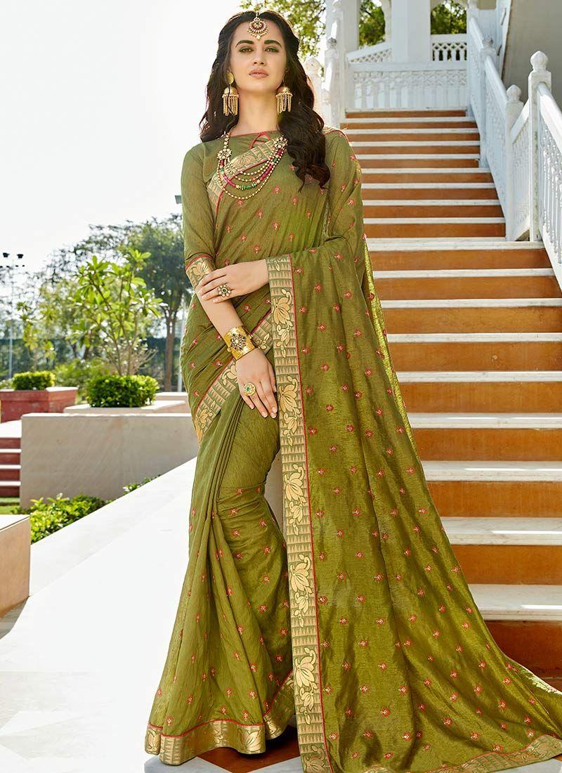Stone Work Work Silk Bollywood Saree