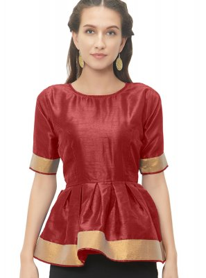 Stunning Maroon Color Readymade Designer Blouse