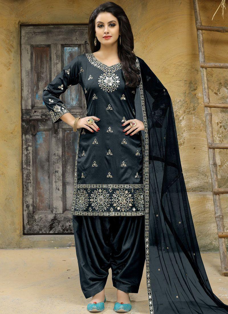 Tafeta silk Punjabi Suit