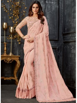 Tissue Pink Designer Traditional Saree