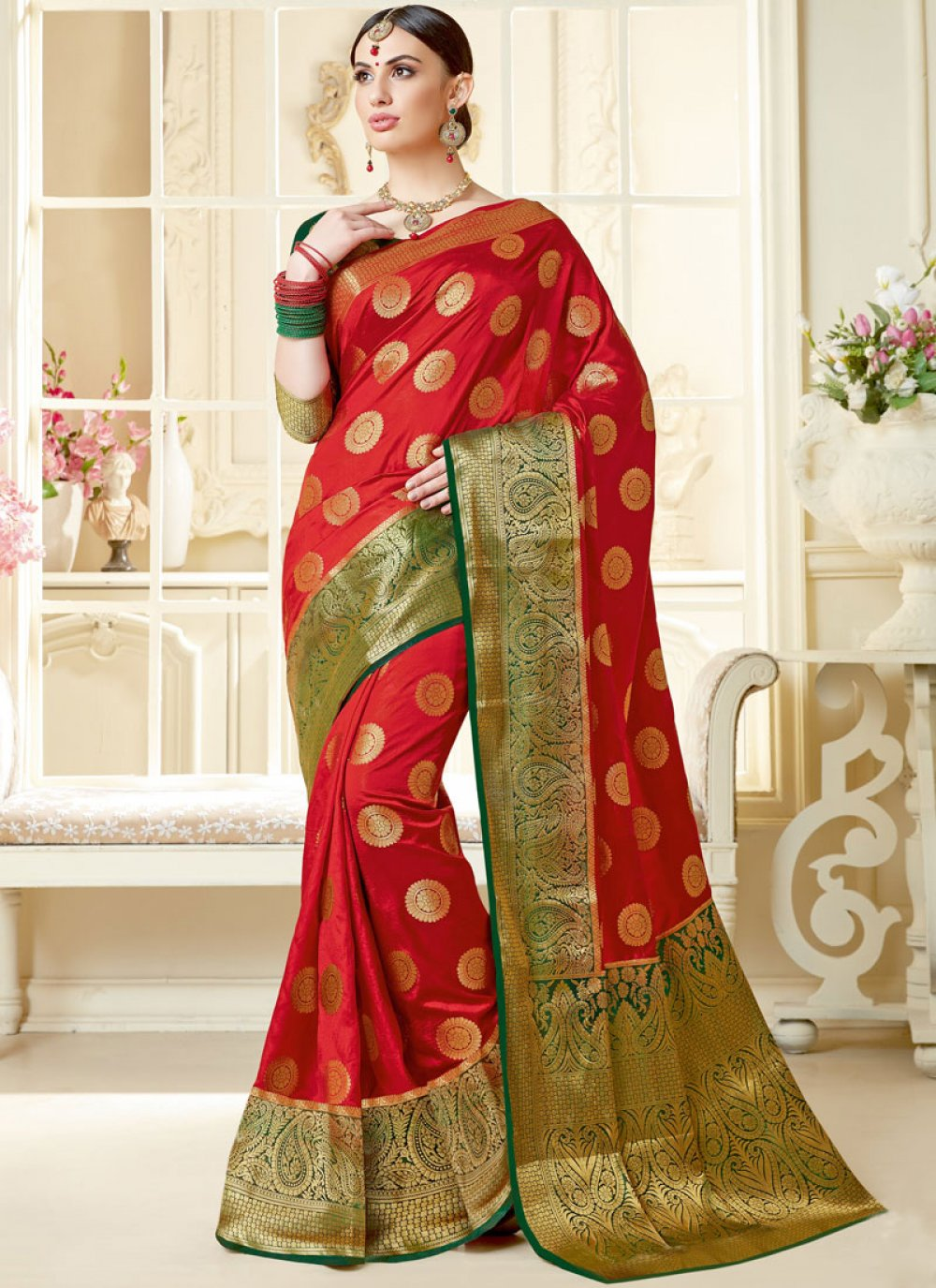 Tussar Silk Abstract Print Designer Saree