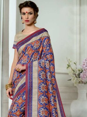 Tussar Silk Multi Colour Casual Saree