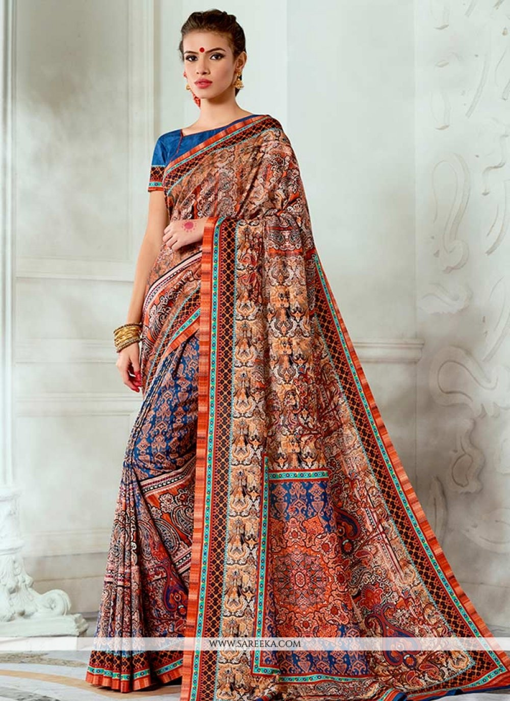 Tussar Silk Multi Colour Traditional Designer Saree