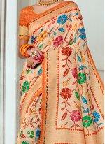 Tussar Silk Multi Colour Traditional  Saree
