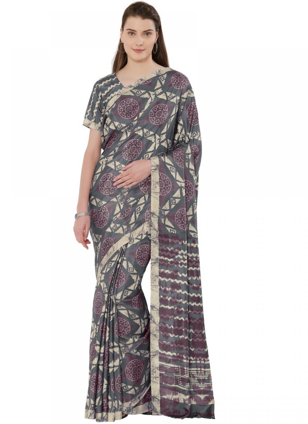Tussar Silk Printed Casual Saree