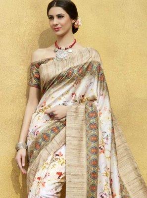 Tussar Silk Printed Classic Saree