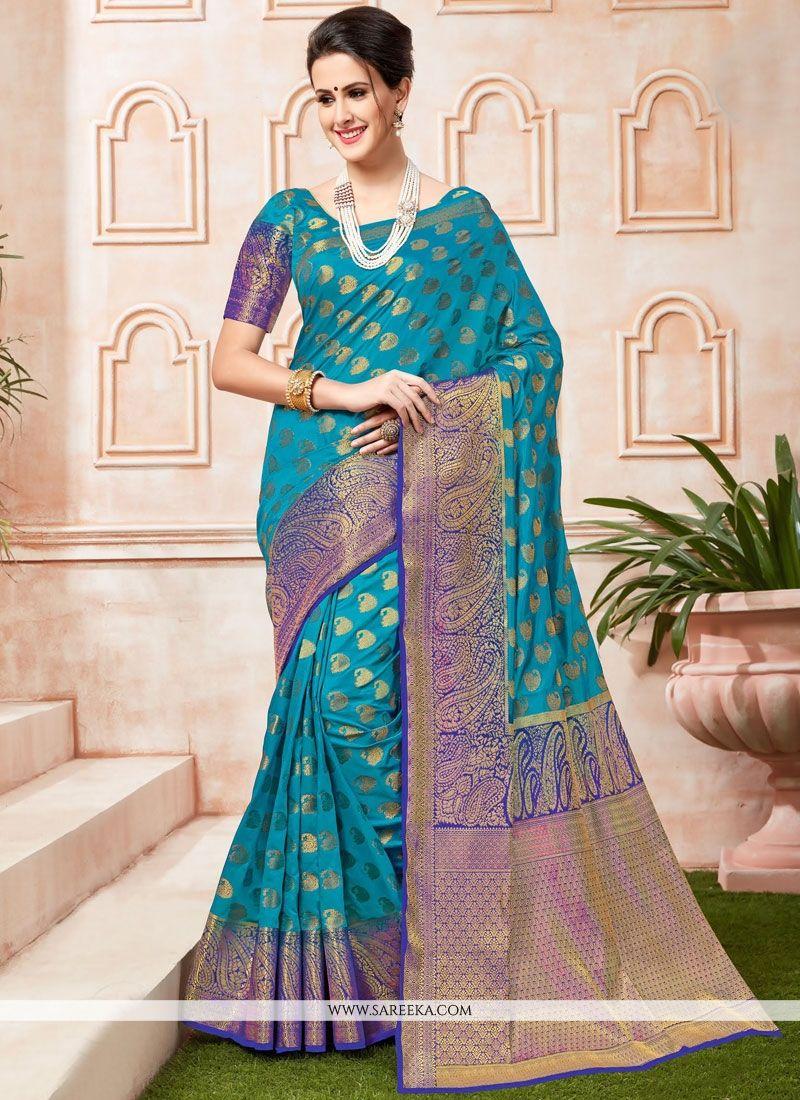 Tussar Silk Weaving Work Designer Traditional Saree
