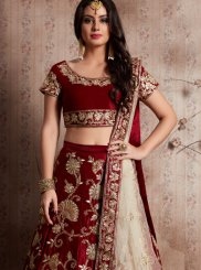 Velvet Embroidered Work Designer Lehenga Choli