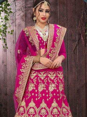 Velvet Pink Zari Designer Lehenga Choli