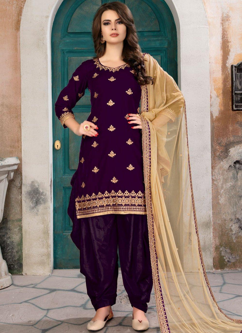 Velvet Punjabi Suit