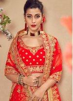 Velvet Red Designer Lehenga Choli