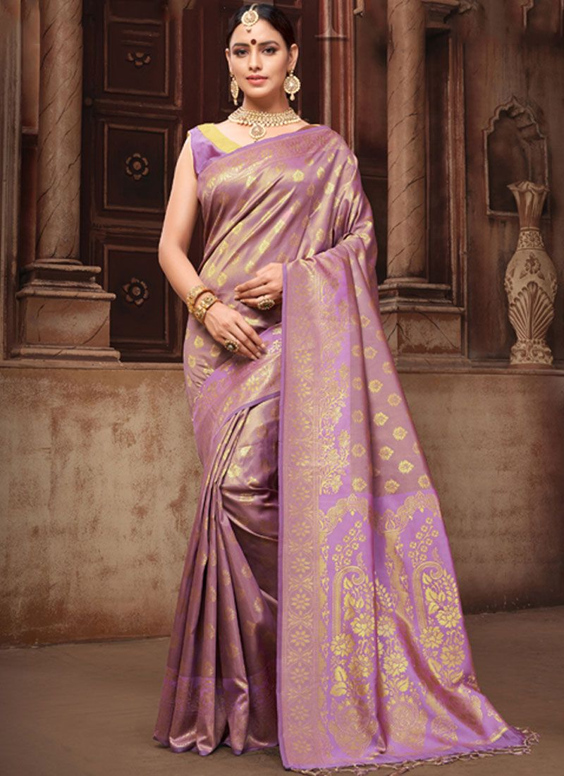 d5777a78b26d2 Buy Violet Art Silk Traditional Designer Saree Online   93211 -